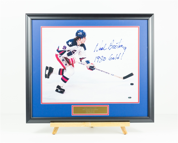 Neal Broten Signed Display