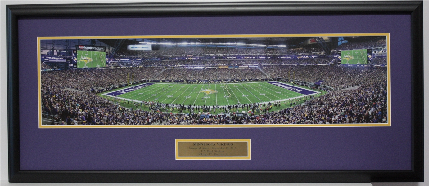 MINNESOTA VIKINGS USA Bank Stadium Inaugural Panoramic Display