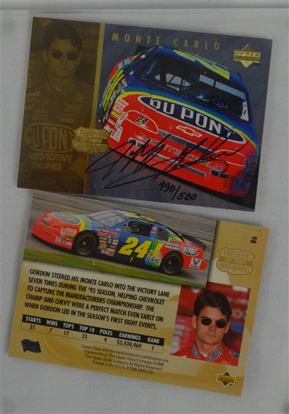 Jeff Gordon Limited Edition Autographed Card Set UDA