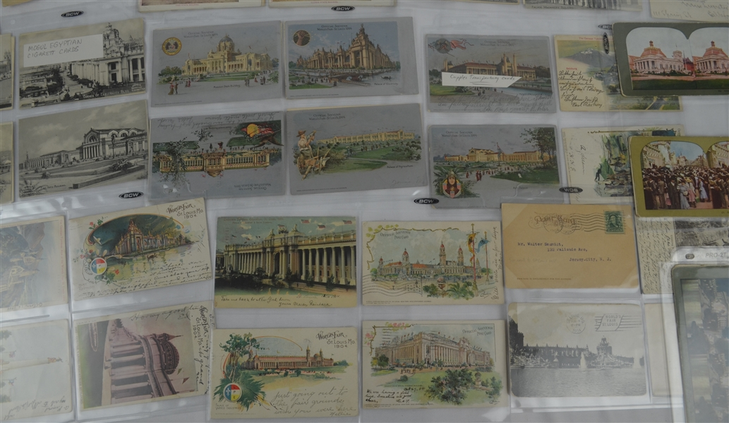 Vintage 1904 St. Louis World's Fair Collection w/Post Cards Poster Stamps Covers & More