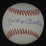 Mickey Mantle Autographed OAL Bobby Brown Baseball Mint