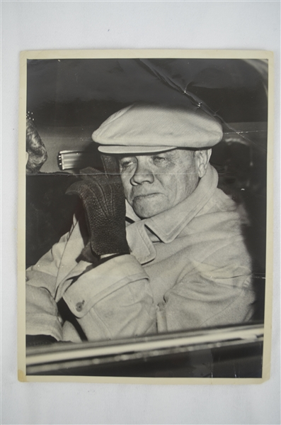 Babe Ruth Original Wire Photo Dated February 15th 1947