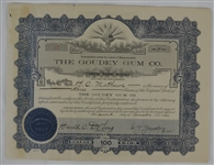 Goudey Gum Co. 1920 Stock Certificate