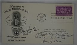 John F. Kennedy Signed & Inscribed 1953 First Day Cover w/Full JSA LOA