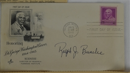 Ralph Bunche Signed 1948 First Day Cover