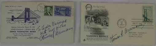 Othmar Ammann 1962 & 1964 Lot of 2 Signed First Day Covers