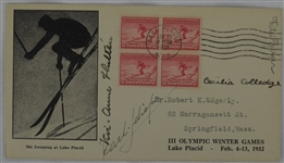 1932 Winter Olympic Figure Skater Signed First Day Cover