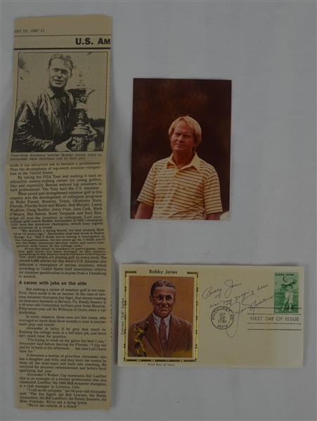 Jack Nicklaus 1981 Signed & Inscribed Bobby Jones First Day Cover