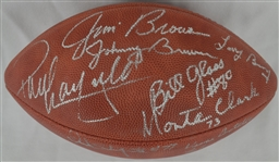 Cleveland Browns 1964 NFL Championship Team Signed Football w/Jim Brown JSA Full LOA