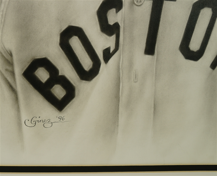 Amazing Ted Williams Original Painting by Artist Intoy Ginez