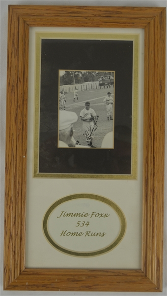 Jimmie Foxx Autographed & Framed Photograph