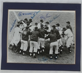 New York Giants 1951 Autographed Photo w/Mays & Durocher