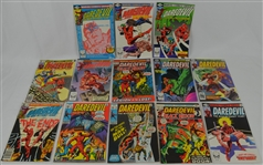 Collection of 13 Daredevil Comic Books c. 1970-1983