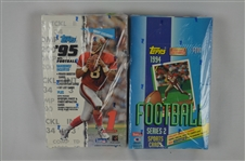 Unopened Boxes of 1994 & 1995 Football Cards
