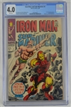 Iron Man & Sub-Mariner 1968 Marvel Comic Book Issue #1 CGC Graded 4.0
