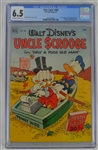 Rare 1952 Walt Disney Uncle Scrooge First Issue Dell Four Color Comic Book #386 CGC Graded 6.5