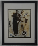 Yogi Berra w/Babe Ruth Autographed Framed Photo
