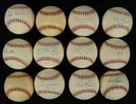 Collection of 12 Autographed Baseballs w/Robinson Cano