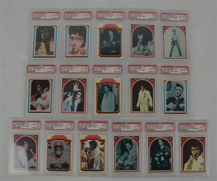 Complete 1978 Elvis 66 Card Set PSA Graded