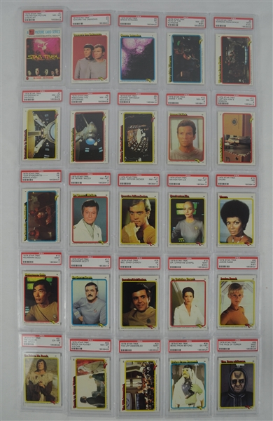 Complete 1979 Star Trek 88 Card Set PSA Graded