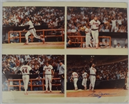 Reggie Jackson Autographed 400th HR Photo Collage