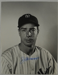 Joe DiMaggio Autographed Black & White Photo