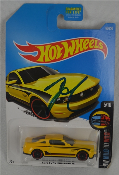 Jay Leno Autographed Hotwheel Car in Original Packaging