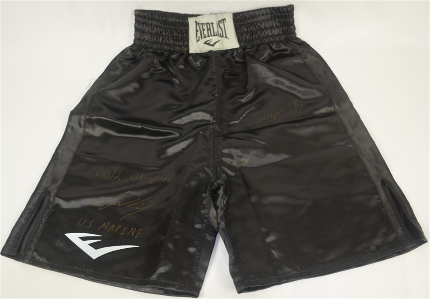 Jamel Herring Autographed & Inscribed Boxing Trunks