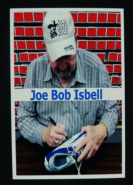 Joe Bob Isbell Autographed Worn Shoe w/Signing Photo