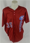 Calgary Cannons #35 Professional Model Jersey w/Medium Use