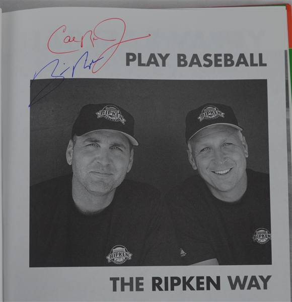 Cal Ripken & Billy Ripken Dual Signed Book