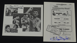 Leon Spinks Lot of 2 Autographed 8x10 Photo