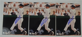 Darrel Evans Lot of 3 Autographed 8x10 Photo
