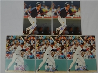 Mike Greenwell Lot of 5 Autographed 8x10 Photo