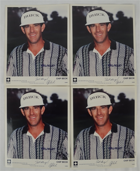 Chip Beck Lot of 4 Autographed 8x10 Photo