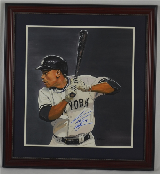 Curtis Granderson Original James Fiorentino Painting Signed by Both w/LOA From Artist