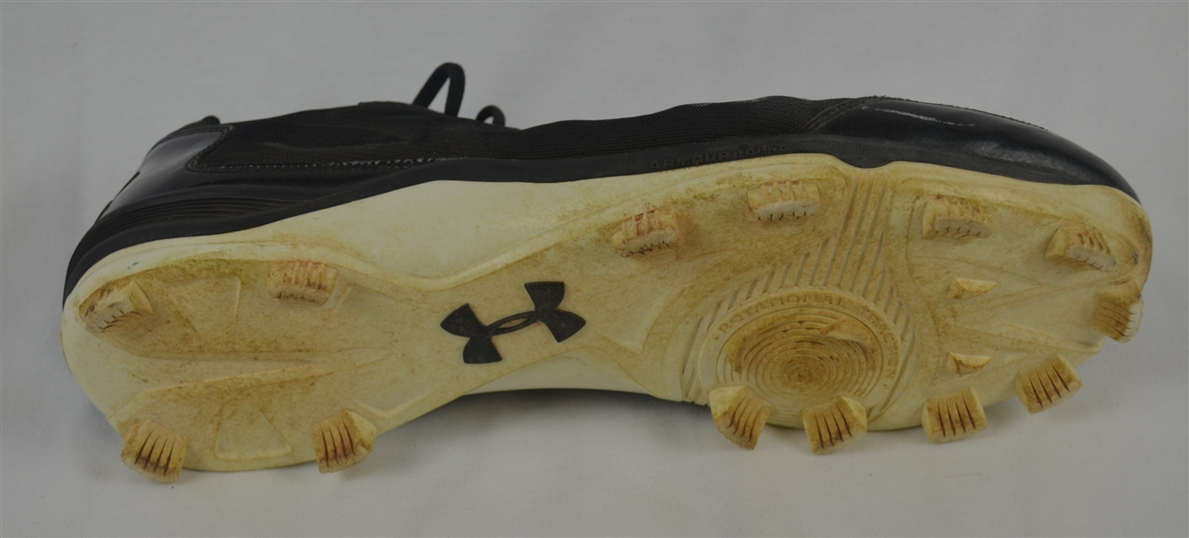 Aaron Judge Autographed NY Yankees Professional Model Cleat w/Heavy Use & 2015 Game Used Inscription