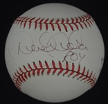 Derek Jeter Autographed OAL Rookie of the Year Inscribed Baseball