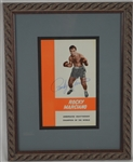 Rocky Marciano Autographed & Framed Grossinger's Training Camp Program