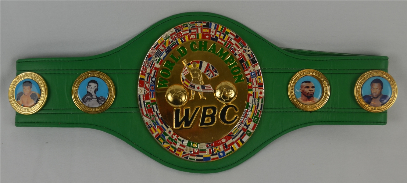 Roberto Duran & Tommy Hearns Autographed Full Size WBC Heavyweight Championship Belt