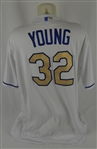 Chris Young 2016 Kansas City Royals Opening Day Professional Model Jersey w/Medium Use