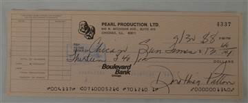 Seka Business Signed Check w/Hand Signed Bio Sheet