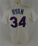 Nolan Ryan Autographed 1990 Texas Rangers Professional Model Jersey w/No Use