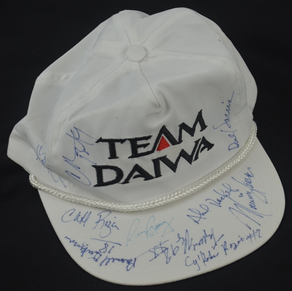 Autographed Team Diawa Golf Hat w/Charles Barkley & Rick Barry