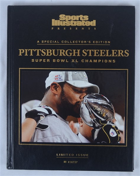 Steelers Super Bowl XL Leather Bound Limited Edition Program