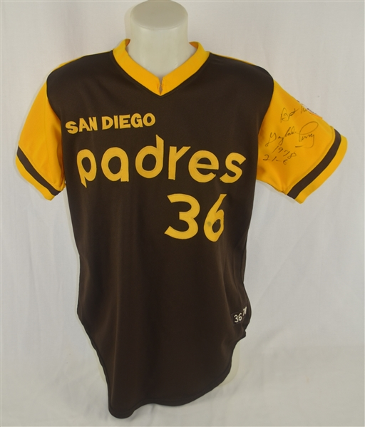 Gaylord Perry 1978 San Diego Padres Professional Model Jersey w/Heavy Use