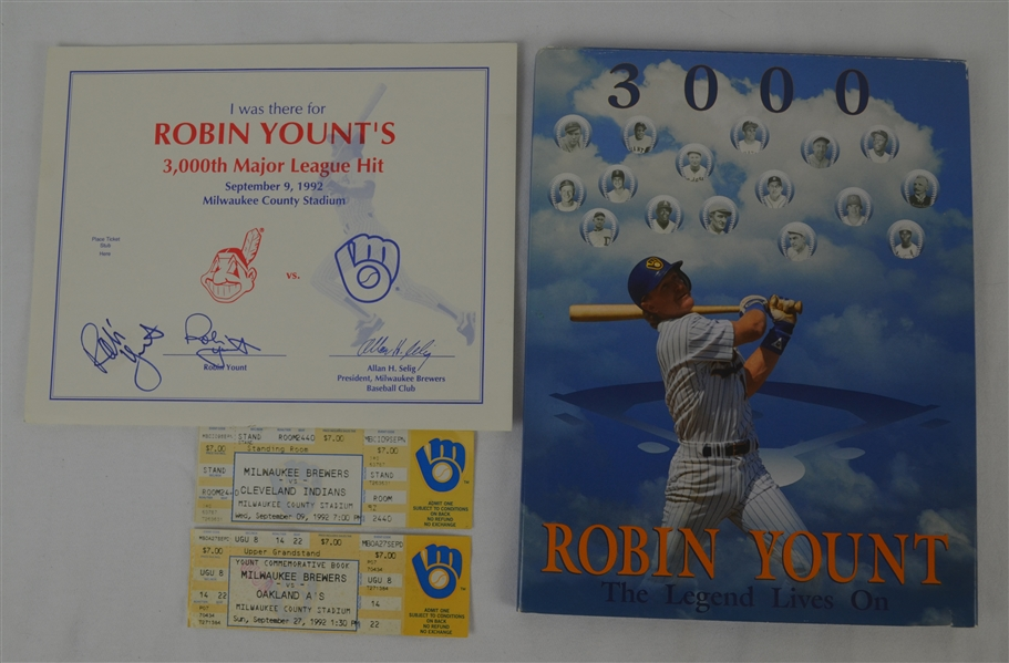 Robin Yount 3000 Hit Collection