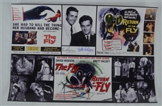 David Hedison & Brett Halsey Autographed Fly/Return of the Fly Photo
