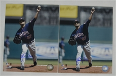 Johan Santana Lot of 2 Autographed 8x10 Photos