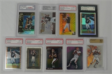 Collection of 9 Tim Couch 1999 Graded Rookie Cards